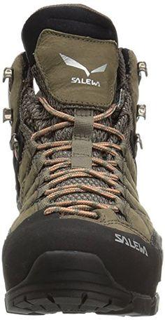 Amazon.com | Salewa Women's ALP Flow Mid GTX-W Mountaineering Boot, Walnut/Peach Coral, 11 D US | Hiking Boots