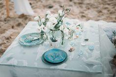 Beige and emerald Wedding Colours for a beach themed wedding + beige wedding dress Emerald Wedding Colors, Beige Wedding Dress, Beach Wedding Tables, Ceramic Workshop, Shades Of Beige, Wedding Table Decorations, Wedding Boxes, Beach Themes, Wedding Shoot