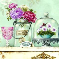 Натюрморт с цветами, оригинал