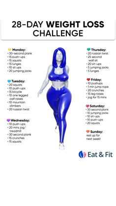 Weight Loss Workout Plan, At Home Workout Plan, Weight Loss Challenge, Workout Challenge, At Home Workouts, Summer Body Workouts, Full Body Workout Routine, Easy Workouts, Workout Abs