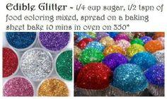 Homemade Edible Glitter