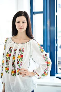 Fashion ‹ Mihai Andrei Photography Embroidery Online, Folk Embroidery, Embroidery Fashion, Embroidered Clothes, Embroidered Blouse, Mexican Fashion, Folk Clothing, Russian Fashion, Clothes Crafts