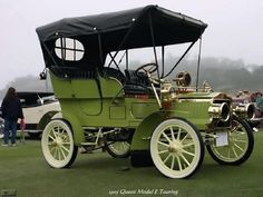 Edwardian Era Transportation, Old Cars - 1905 Queen Model E Touring Cars Vintage, Antique Cars, Retro Cars, Touring, Veteran Car, Old Classic Cars, Old Trucks, Motor Car, Concept Cars