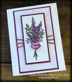 Lovely Lavender Bouquets at WildWestPaperArts.com