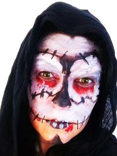 Halloween maquillaje fácil calavera. Easy halloween make-up