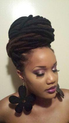 Yarn locs and Makeup ig:amia_renee