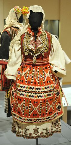 This wedding costume would be worn by a woman from Skopska Blatiya, Macedonia. From a exhibtion at the Museum of International Folk Art in Santa Fe, New Mexico