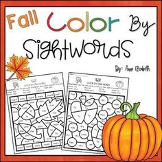 This fall-themed pack is a fun way for your students to practice recognizing and reading their Sight Words! This whole resource is NO PREP; just print and go! These Fall Color by Sight Words Activity pages are perfect for early finishers, literacy centers or to have on-hand as back up plans for a su... Fall Preschool Activities, Sight Word Activities, Early Finishers, Activity Ideas, Autumn Theme, Season Colors, Sight Words, Literacy Centers, Early Childhood