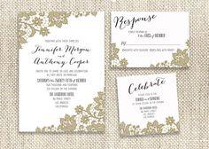 Handwritten / Lace / Printable / Wedding by CityBeeDesign on Etsy, $65.00