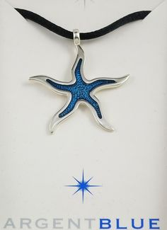 Colgante de plata y esmalte – Estrella de Mar | Joyería Argent Blue