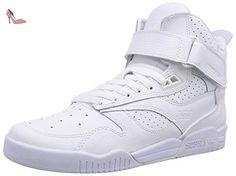 Supra Bleeker, Sneakers Hautes mixte adulte, Blanc (White White), 42.5 - Chaussures supra (*Partner-Link)