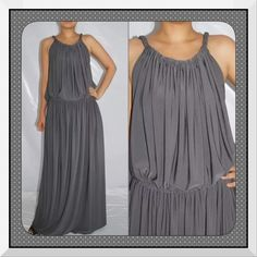 NEW Gray Grecian Goddess Plus Sz Maxi Dress XXL 16 This is a brand new grecian style dress in XXL or 14-18. This is made by a designer in Thailand and is a gorgeous array of vibrant colors and patterns that are perfect for wear year round. These are made more true to size but they are flexible to fit up the largest sizes. This is. The only one I have or will have so please don't delay if it's an item you really want. Type of fabrics we used  Polyester 95% Spandex 5%. COMFORTABLE TO WEAR, DUE…