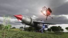 Thunderbird 1 Stands ready by Chrisofedf Fan Art / Digital Art / Art / TV & Movies