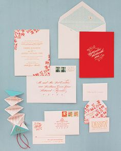 Oh So Beautiful Paper: Cheree Berry's Modern Floral Wedding Invitations
