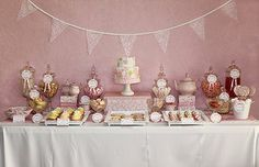 Shabby chic pink party