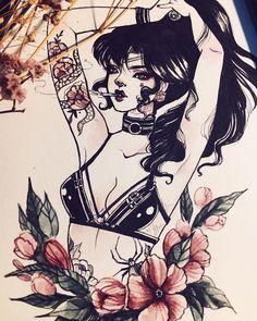 Joopiter by Pei Hsin Sailor Scouts, Manga Comics, Art Sketches, Art Drawings, Arte Dope, Sailor Moon Fan Art, Witch Art, Sailor Jupiter, Ink Art