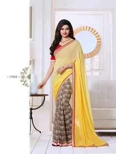 LightYellow Exclusive Designer Fancy Saree