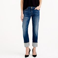 J.Crew - Point Sur X-Rocker Japanese denim jean with cashmere-- love, but do 2 sizes down for this fit:-)