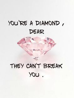 In the hand of the Lord, you are more precious than diamonds.