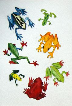 Frog page which did not make it into the book Manchester Art, Lizards, Art Gallery, Book, Artwork, Artist, Painting, Animals, Animales
