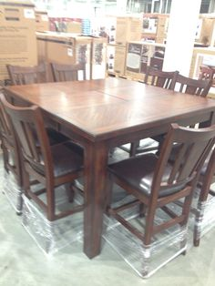 Enjoy Family Meals And Rousing Card Games At This Dining And Game Extraordinary Dining Room Sets Costco Review