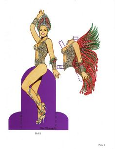 Carnaval Paper Doll with Glitter by Tom Tierney - recipepartys@Y colorsnumbersabc - Picasa Web Albums