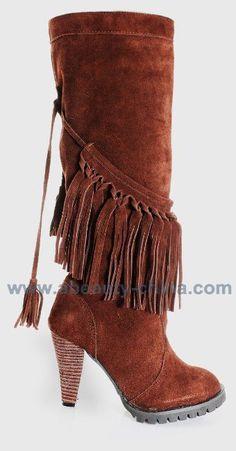 Stylish Tassel High Heel Boots