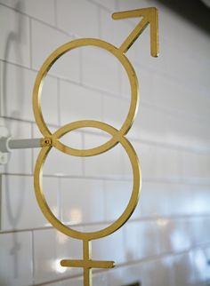 Nopi washroom wayfinding (by here design)