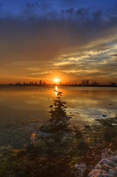 seascape, sunset  The Path by heshaaam, via Flickr