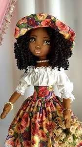 Resultado de imagem para bonecas de pano negras passo a passo
