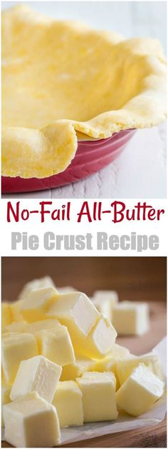 No Fail All Butter Pie Crust recipe for all your holiday baking. You can make a bunch of these now and freeze them to use later. via @shineshka