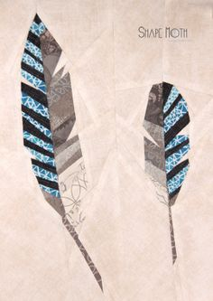 paper pieced feather tut