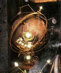Steampunk globe. Love it.