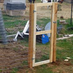 Putting Up Fence And Building A Gate - No Deer Or Goats Will #digin To My Berry…