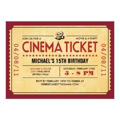 free you re invited movie ticket invitation template wedding