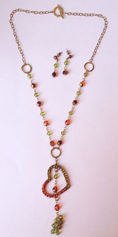 Heart Pendant Jewelry set with Swarovski crystals by Rosestyle, $15.50