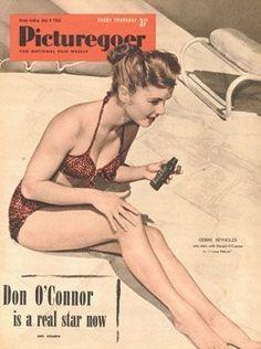 "Debbie Reynolds on the cover of ""Picturegoer"" magazine, United Kingdom, July 4th 1953."