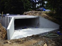 Build A Bunker 749286456736040695 - Box Culverts Fig 1 Source by xrhoster Underground Living, Underground Shelter, Underground Garage, Underground Homes, Precast Concrete, Concrete Houses, Concrete Building, Building A Bunker, Building A House