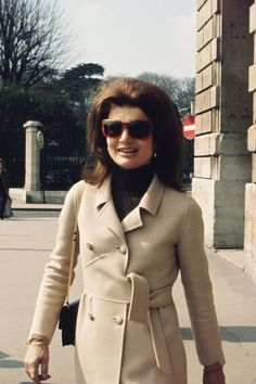 A COMPLETE HISTORY OF THE CAMEL COAT Jackie Kennedy, January 1968