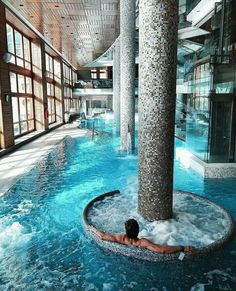 Ever dreamed of having your own residential indoor pool? Check out these amazing indoor pools featuring creative designs. Luxury Swimming Pools, Luxury Pools, Indoor Swimming Pools, Dream Pools, Swimming Pool Designs, Lap Pools, Lap Swimming, Indoor Outdoor Pools, Amazing Swimming Pools