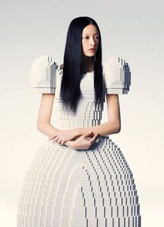 Un robe de mariée totalement réalisée en lego                              …