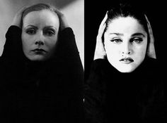 A Greta Garbo rip off. Many of her stolen reinventions would never be identified by younger people. Only old film buffs would recognize many of her role models.