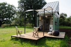 A 221 square feet house that is delivered on a truck flat-packed for assembly in South Africa.