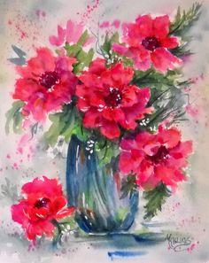 Romantic bouquet, by Martha Kisling