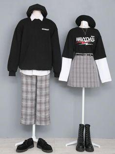 Women S Fashion Clothing Korean Fashion Trends, Korea Fashion, Korean Outfits, Trendy Outfits, Fashion Outfits, Rock Outfits, Emo Outfits, Aesthetic Fashion, Aesthetic Clothes