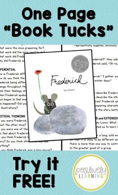 Comprehension Questions all in one place for your favorite read alouds! Try a free copy for Leo Lionni's Frederick - it's in the preview! From Positively Learning