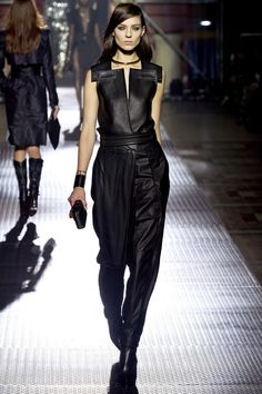 Spring 2013 Ready-to-Wear + Lanvin + leather + jumpsuit