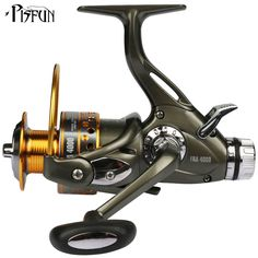 YOLO FRA Dual Brake Feeder Fishing reel 10BB Carp Reel Tackle For Fishing Spinning Free Spare Coil FRA 3000 4000 5000 6000