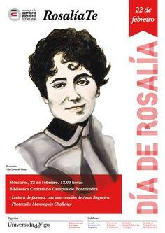 A Biblioteca Central  do Campus de Pontevedra súmase á conmemoración do Día de Rosalía,  que baixo o lema  #RosalíaTe promove a Asociación de Escritoras e Escritores en Lingua Galega, cun acto o mércores día 22 ás 12:00 h., na Facultade de Ciencias Sociais, diante da Biblioteca.