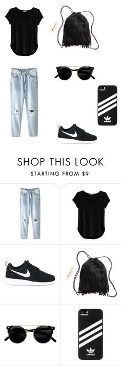 """""""Untitled #34"""" by bleona-ermonda on Polyvore featuring Cosabella, NIKE, H&M and adidas"""